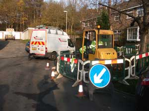 Electrical works with Northern Power grid